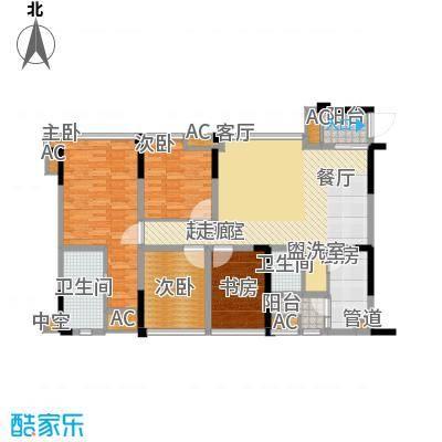 保利锦湖林语116.00㎡一期1、12号楼标准层B2户型