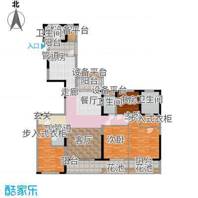 中海城南华府210.00㎡一期8栋标准层E户型