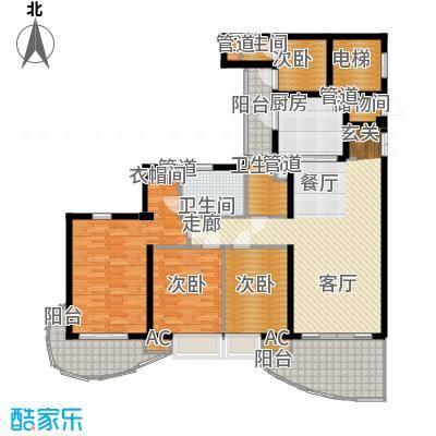 龙湖世纪峰景133.00㎡二期7号楼标准层B3户型
