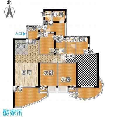 龙湖世纪峰景134.00㎡二期7号楼标准层B4户型