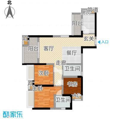 中铁城锦南汇89.00㎡一期1号楼、3号楼标准层C2户型