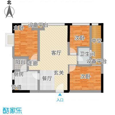 大有智慧广场85.00㎡一期2号楼标准层C户型