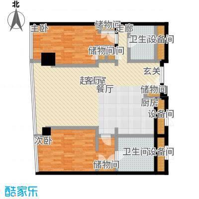 成都银泰中心华悦府162.00㎡一期1号楼标准层A1户型