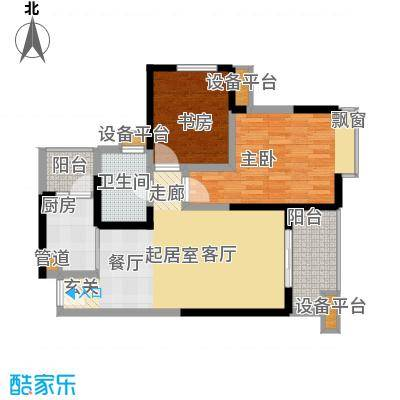 汇锦城87.00㎡一期3号楼标准层E5户型
