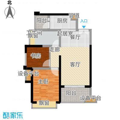 汇锦城74.00㎡一期3号楼标准层E3【售罄】户型