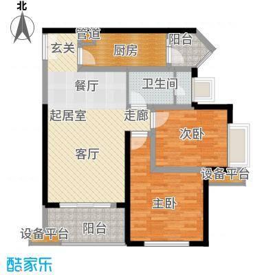 汇锦城89.00㎡一期3号楼标准层E4户型
