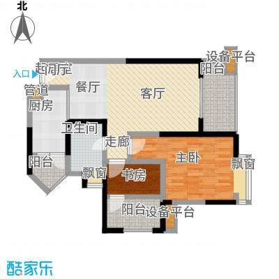 汇锦城88.00㎡一期3号楼标准层E6户型