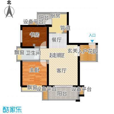 汇锦城86.00㎡一期1号楼标准层B户型
