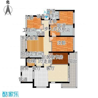 万科公园5号171.00㎡一期12、13、16、17号楼标准层洋房户型