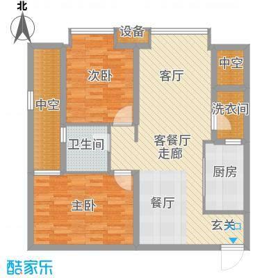 龙湖时代天街77.00㎡3期13号楼标准层A2户型