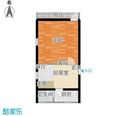 罗马公寓45.00㎡面积4500m户型
