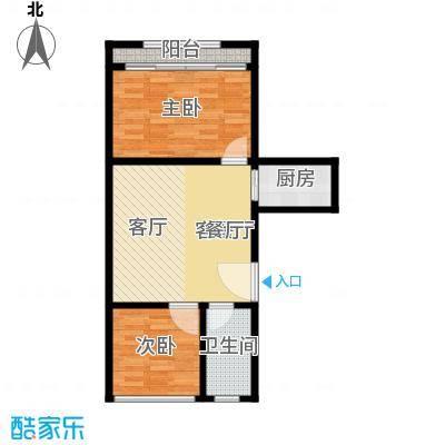 五福新村58.00㎡面积5800m户型