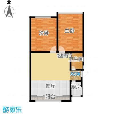 蓝天公寓78.00㎡面积7800m户型