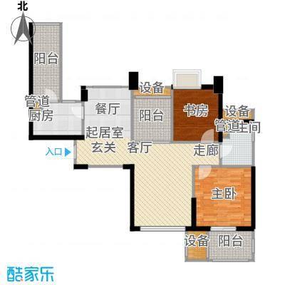 世茂首府89.00㎡1、11号楼3-27层面积8900m户型