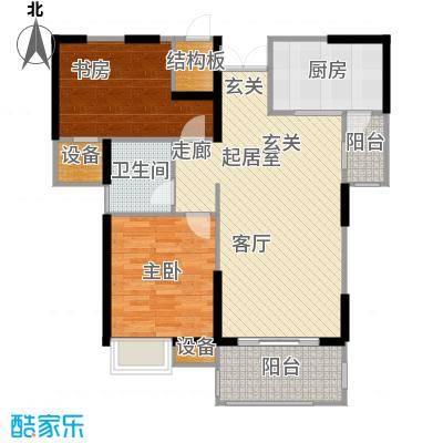 世茂首府87.00㎡2、9、10号楼5-面积8700m户型
