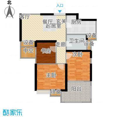 世茂首府89.00㎡12号楼4-28层偶面积8900m户型