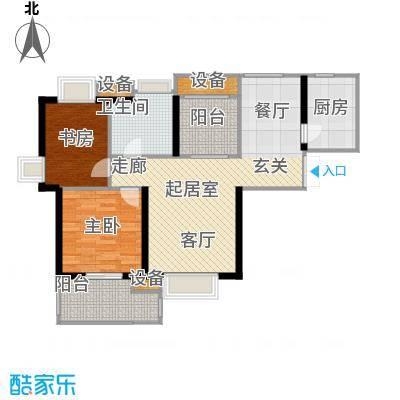 世茂首府89.00㎡12号楼5-29层奇面积8900m户型