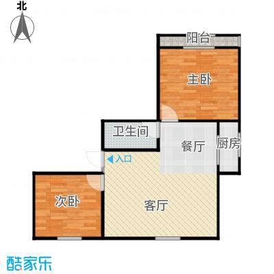 东新园雪峰苑65.00㎡面积6500m户型