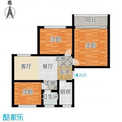 景芳新二区85.00㎡面积8500m户型