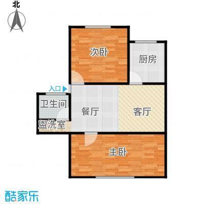 东新园雪峰苑62.00㎡面积6200m户型