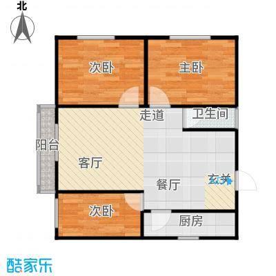 东新园雪峰苑61.00㎡面积6100m户型