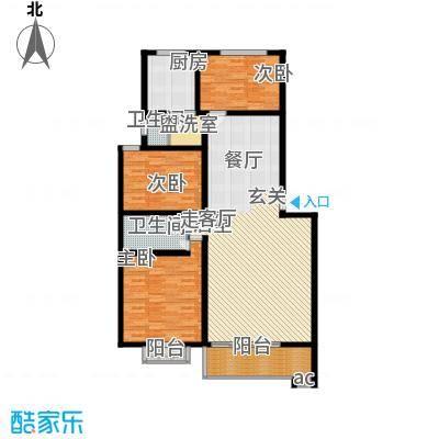 银晟花园139.78㎡2号楼错层2面积13978m户型