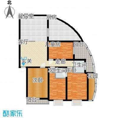 银晟花园173.51㎡1号楼2面积17351m户型