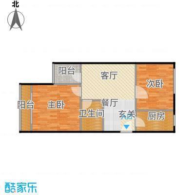 裕园公寓64.00㎡面积6400m户型