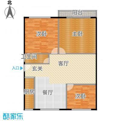 裕园公寓92.00㎡面积9200m户型