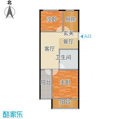 裕园公寓65.00㎡面积6500m户型