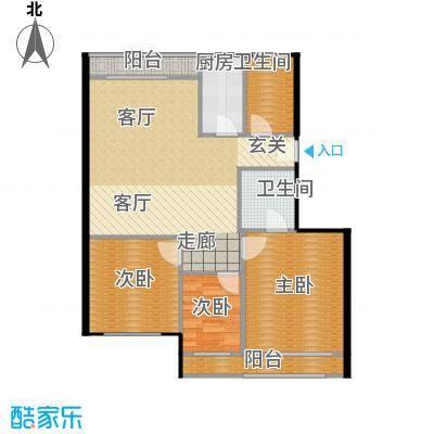 裕园公寓77.00㎡面积7700m户型
