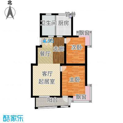 广利佳苑104.67㎡面积10467m户型
