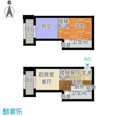 领骏世界54.00㎡16-20层loft延展面积5400m户型