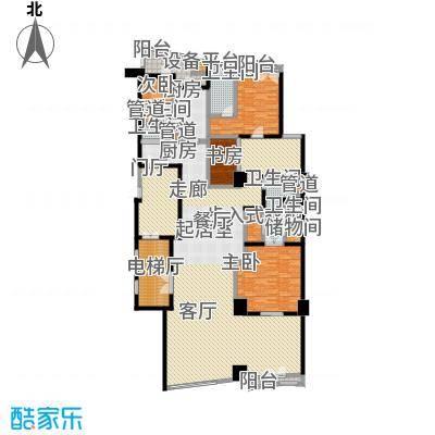 成都银泰中心华悦府266.00㎡一期5号楼标准层A2户型