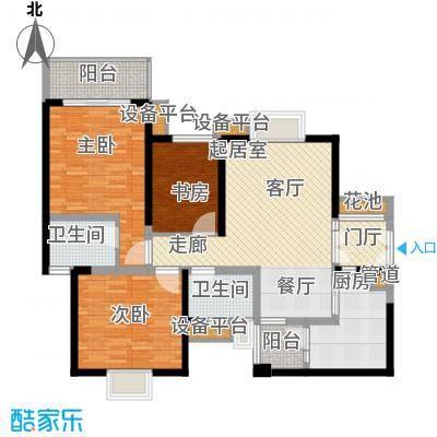 汇锦城111.00㎡一期3号楼标准层E1户型