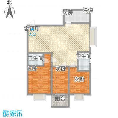 紫薇苑112.47㎡J3面积11247m户型