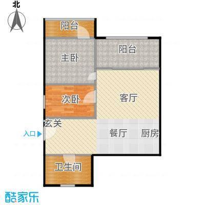 东园大楼62.00㎡面积6200m户型