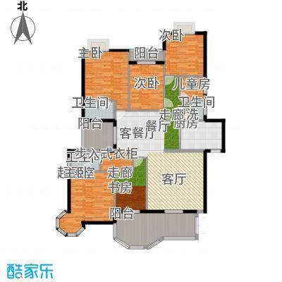 玉龙国际花园205.00㎡典藏湖景5面积20500m户型