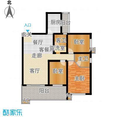 雅塘村社区127.00㎡面积12700m户型