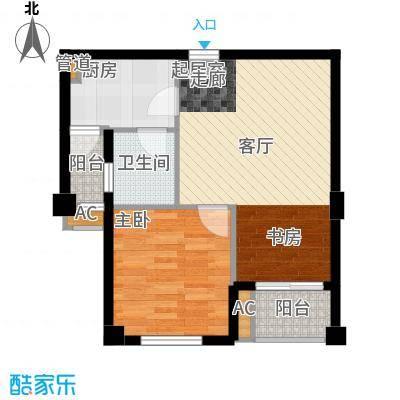 金领公寓68.00㎡面积6800m户型