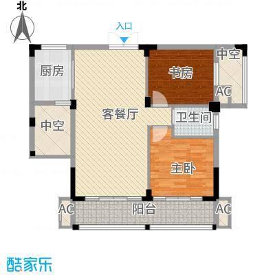 金领公寓81.40㎡B31面积8140m户型