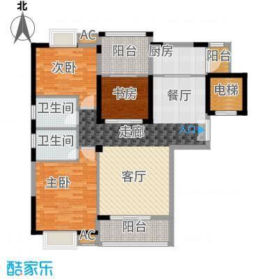 金领公寓109.59㎡B12面积10959m户型