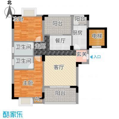 金领公寓87.93㎡A12面积8793m户型
