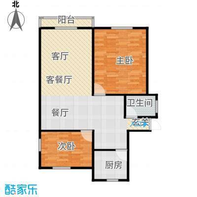 邮政职工公寓70.00㎡面积7000m户型