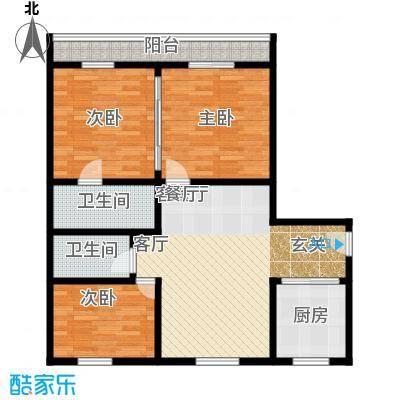 钱江六苑89.00㎡面积8900m户型