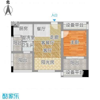 星沙派55.54㎡2栋5号房面积5554m户型