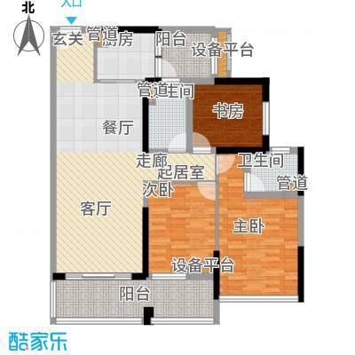 中德英伦联邦90.00㎡B区13、15号楼标准层S户型