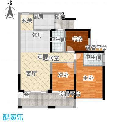 中德英伦联邦89.00㎡B区16、17、18号楼标准层G户型