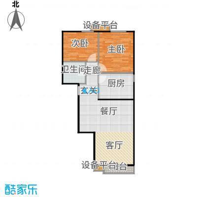远见名苑84.19㎡三期花园鉴筑C户面积8419m户型