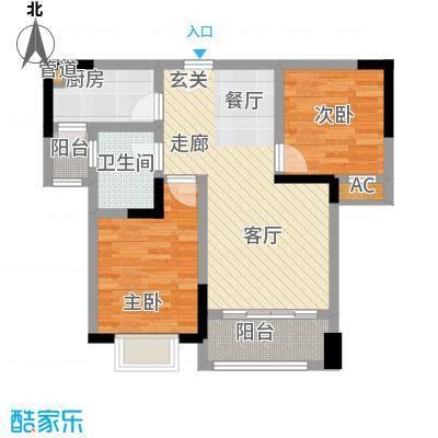 华峰晶蓝江岸78.12㎡A2户型